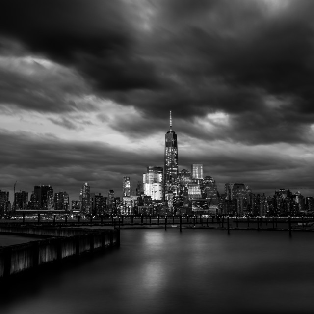 """Lower Manhattan BW"" stock image"