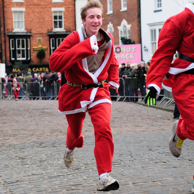 """Lincoln Santa Fun Run &Walk 2013.UK."" stock image"