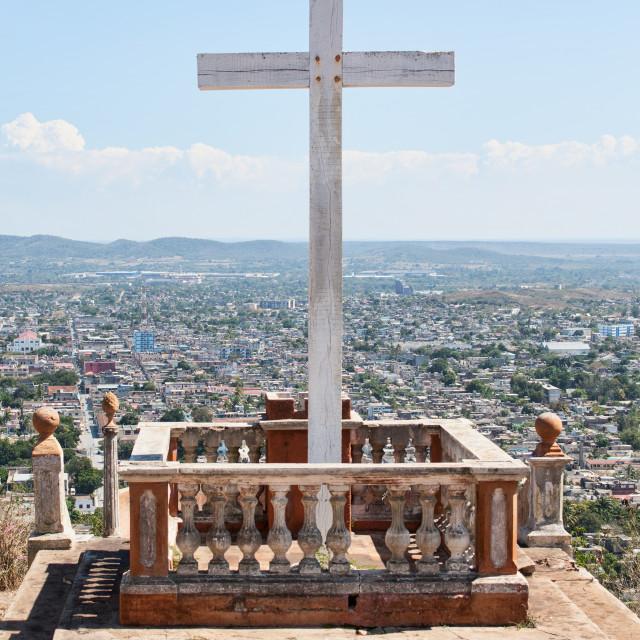 """""""Loma de la Cruz in Holguin, Cuba"""" stock image"""