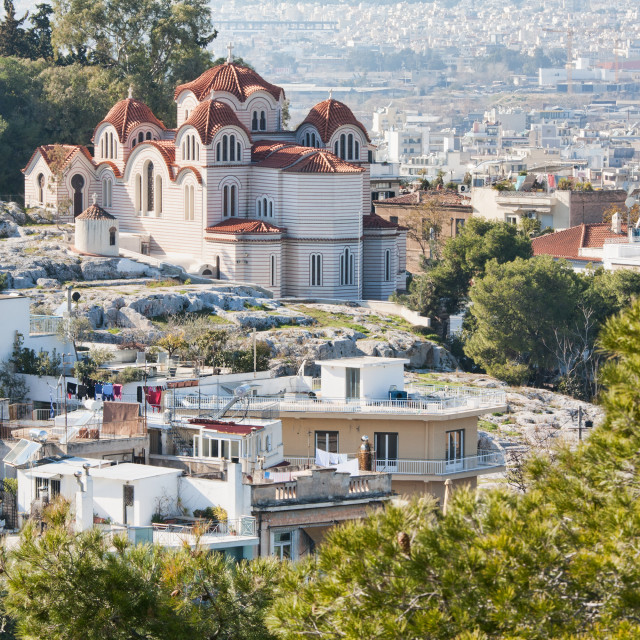 """Agia Marina Church in Athens, Greece"" stock image"