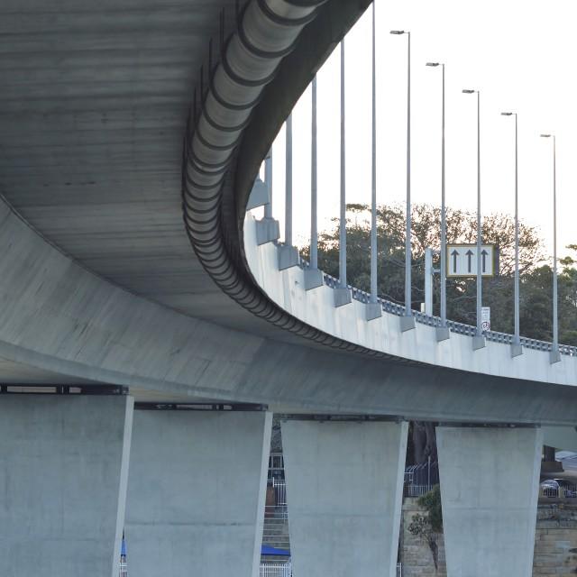 """Curved Bridge"" stock image"