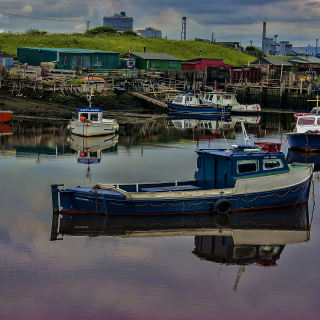 """The Moorings"" stock image"