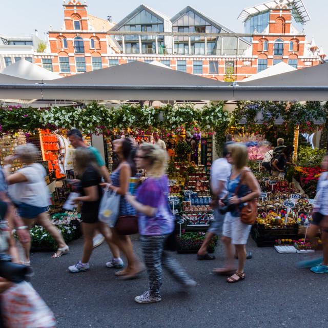 """""""Amsterdam Flower Market"""" stock image"""