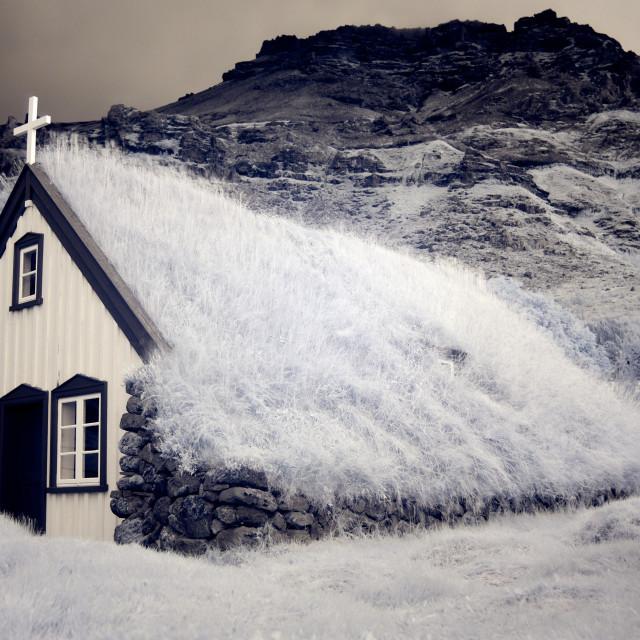 """Hofskirkja Church"" stock image"