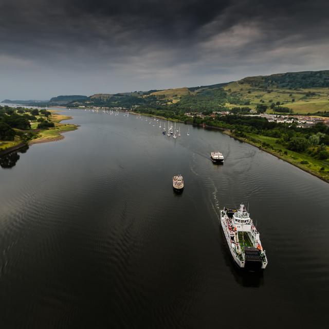 """""""Clyde Flotilla"""" stock image"""