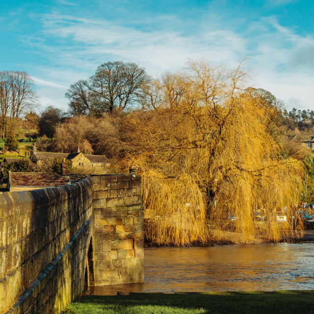 """River Wye in Bakewell"" stock image"