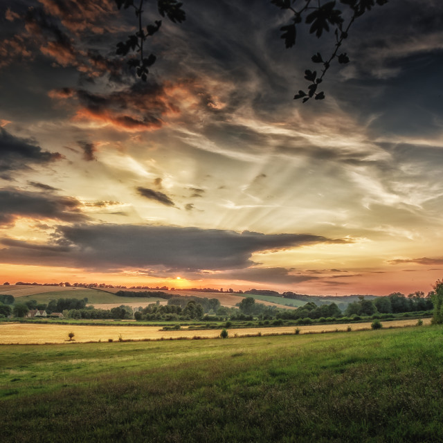 """Sunset on a Summer's Evening"" stock image"