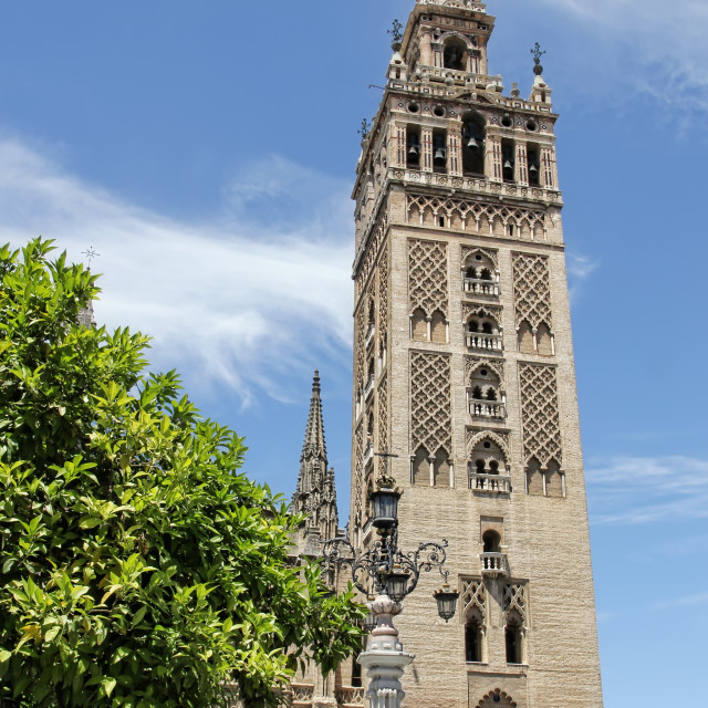 """La Giralda of Seville"" stock image"