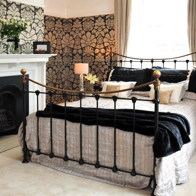 """Ornate bedroom"" stock image"