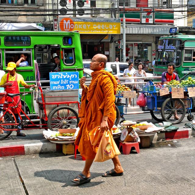 """BANGKOK STREET LIFE"" stock image"