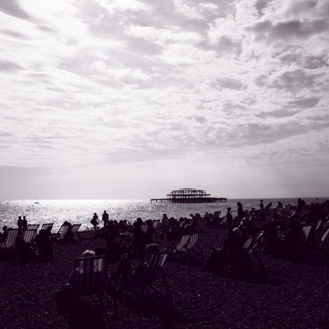 """Brighton Beach"" stock image"