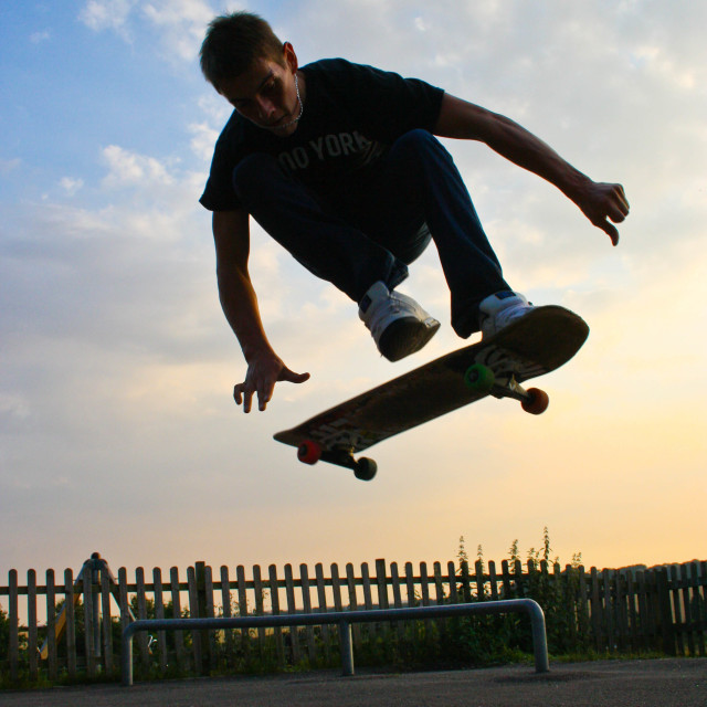 """Kick Flip"" stock image"