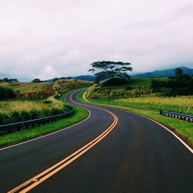 """Kauai roads"" stock image"