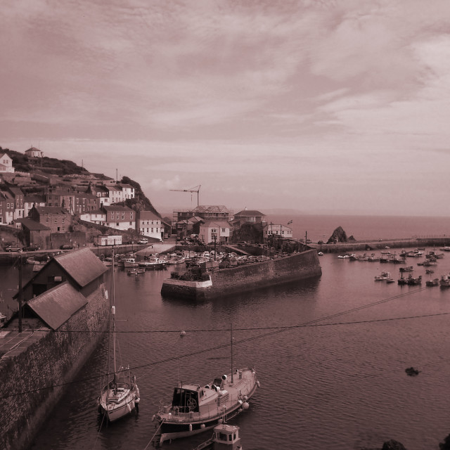 """Cornish Harbour"" stock image"