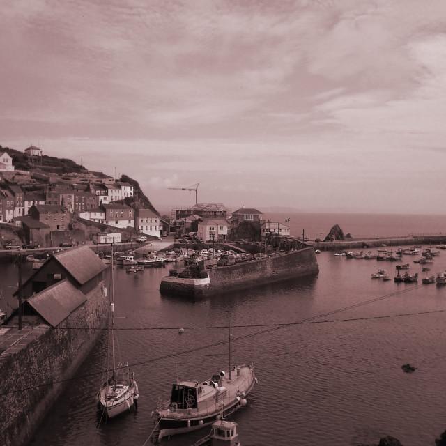 """Cornish Harbour"" stock image"