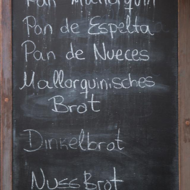 """Bread blackboard"" stock image"