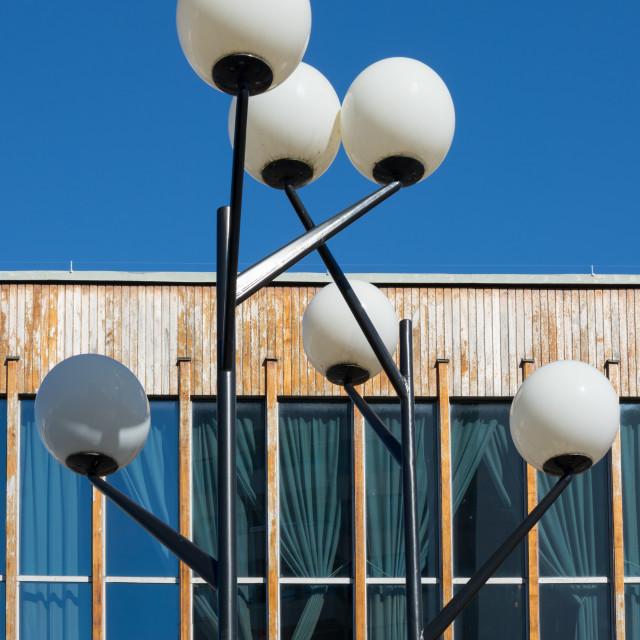 """Fifties style street lamp"" stock image"