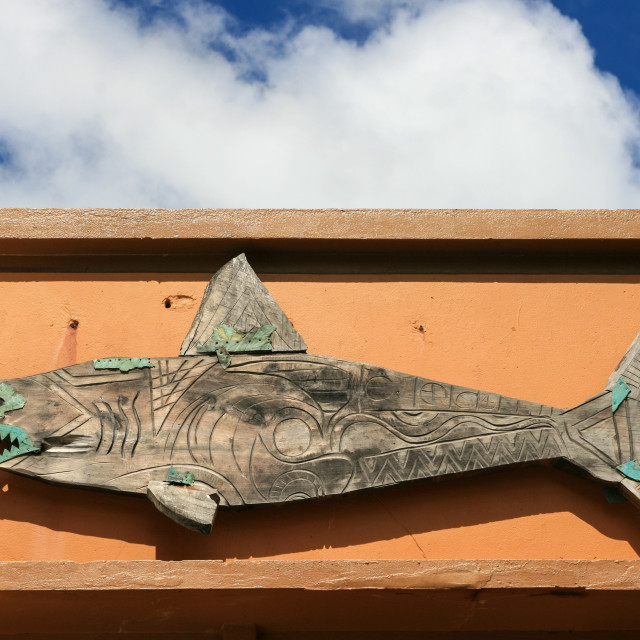 """wooden shark"" stock image"