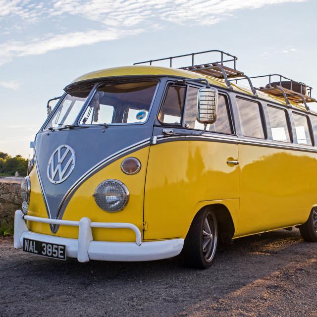 """""""Classic Volkswagen Camper Van"""" stock image"""