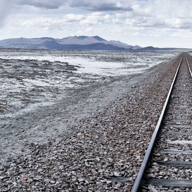 """Train Tracks To Nowhere"" stock image"