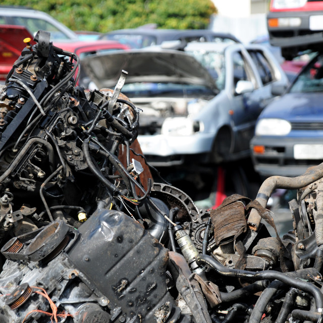 """Scrap and cars"" stock image"