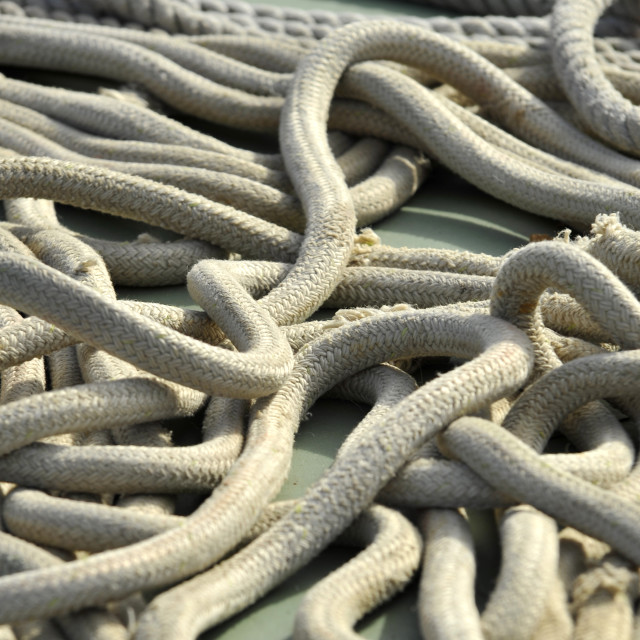 """Ships Rope"" stock image"