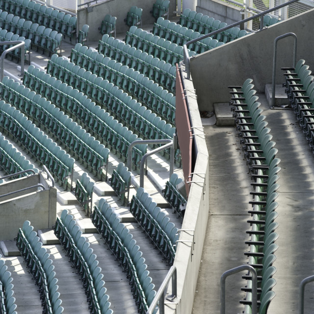 """Stadium seating"" stock image"