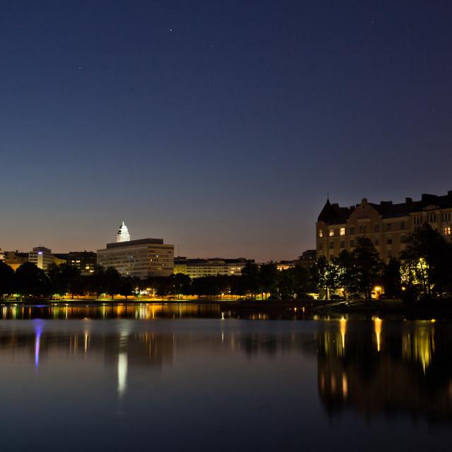 """summer night in Helsinki"" stock image"