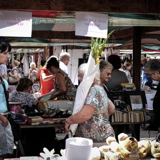"""""""Market Day ."""" stock image"""