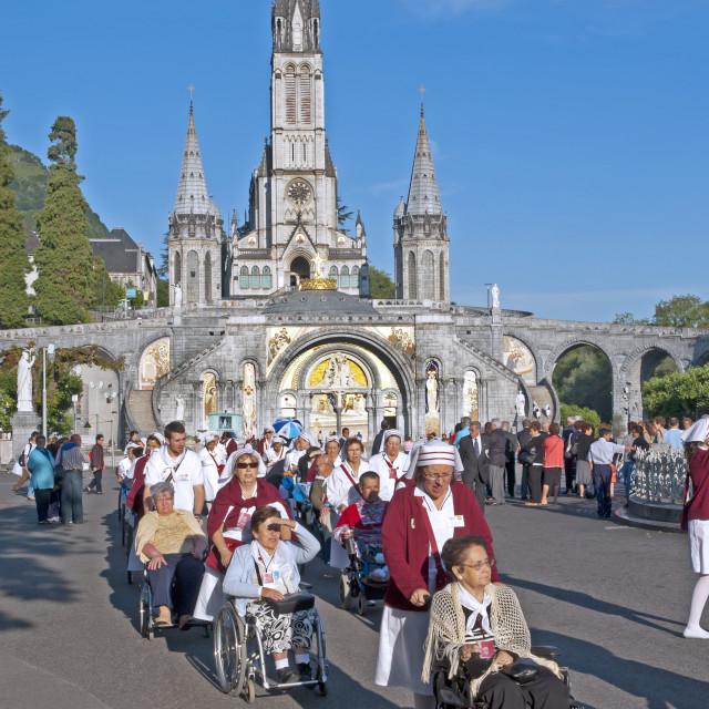 """Lourdes, France"" stock image"