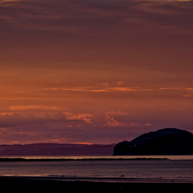 """Bass Rock, East Lothian"" stock image"