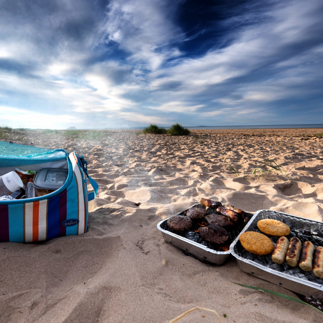 """Beach BBQ"" stock image"