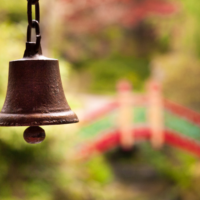 """Japanese prayer bell"" stock image"