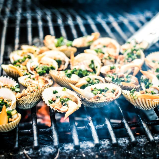 """""""Seafood BBQ"""" stock image"""