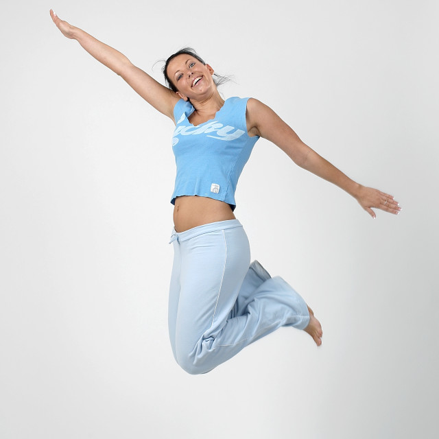 """""""Jumping Girl two"""" stock image"""