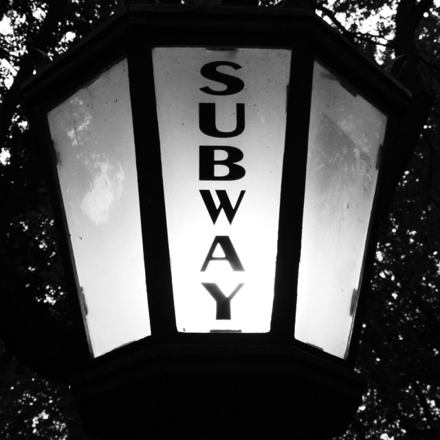 """Subway Light"" stock image"