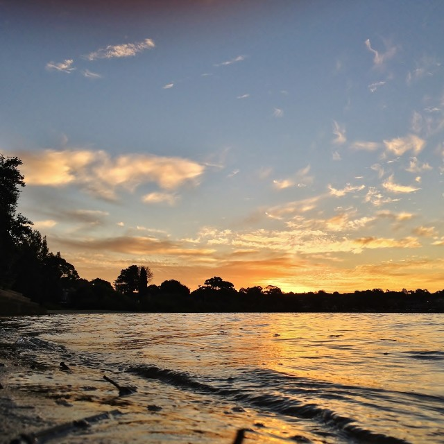 """""""HDR Sunset At Rodd Point 2"""" stock image"""