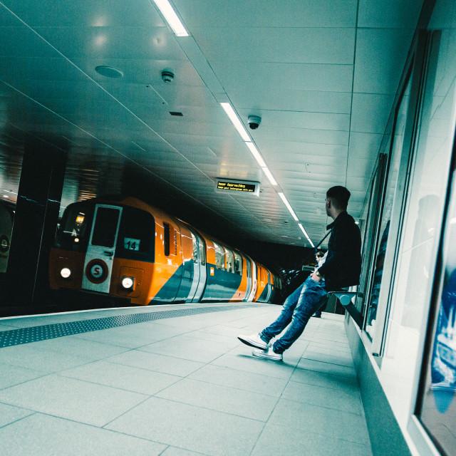 """Glasgow Underground"" stock image"