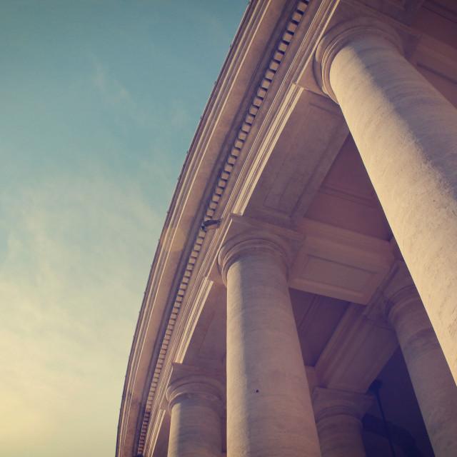 """Pillars, Piazza San Pietro II"" stock image"