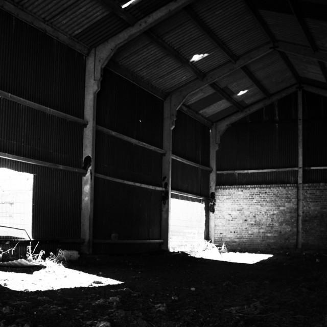 """""""Abandoned Barn I"""" stock image"""