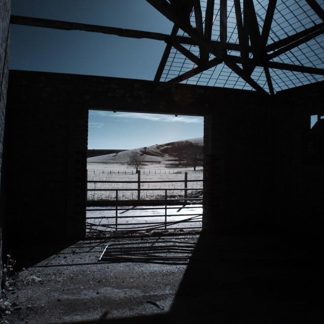 """""""Abandoned Barn II"""" stock image"""