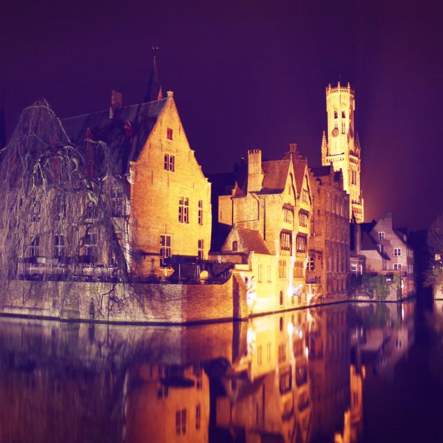 """Rozenhoedkaai, Bruges"" stock image"