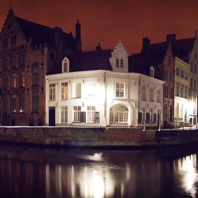 """Bruges by Night III"" stock image"