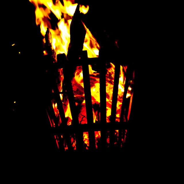 """Fire Basket"" stock image"