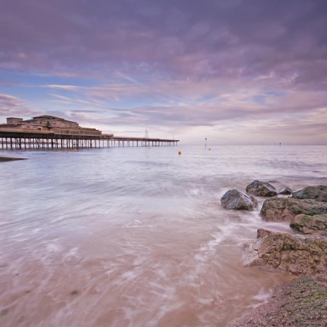 """Colwyn Bay Pier"" stock image"