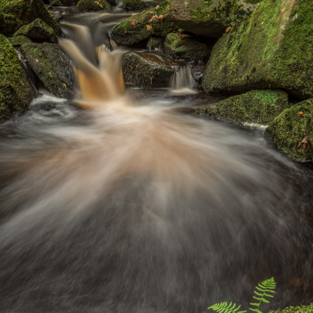 """Derbyshire Waterfall"" stock image"