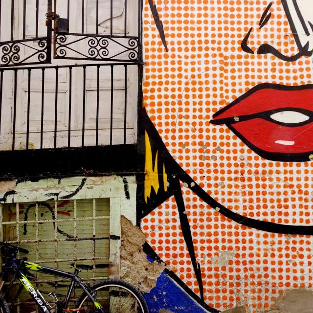 """Zaragoza street art"" stock image"