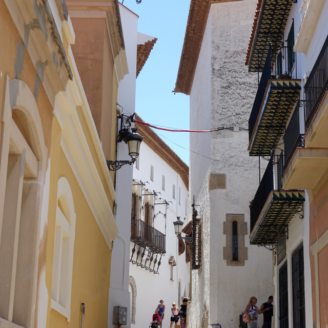 """Streets of Sitges"" stock image"