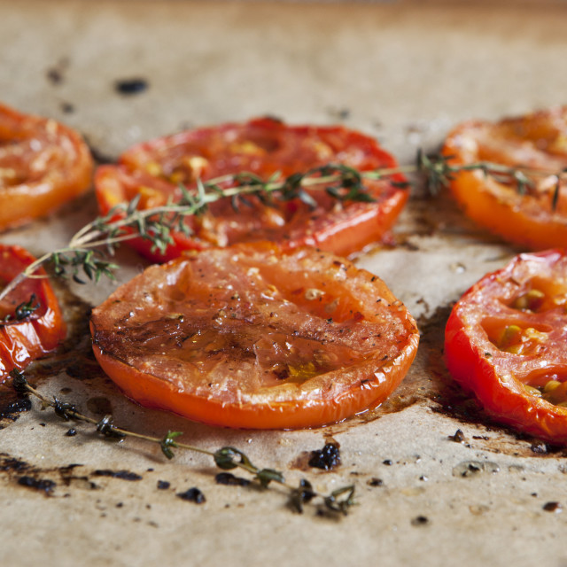 """Baked tomatoes"" stock image"