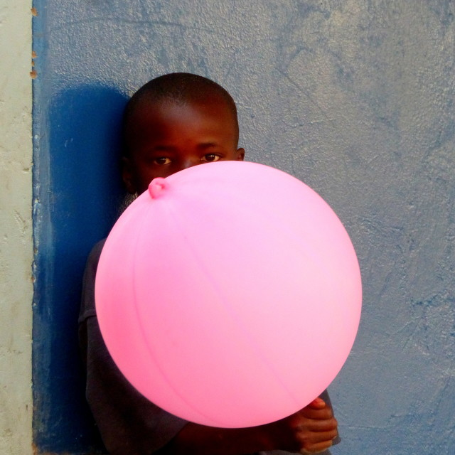 """Pink balloon"" stock image"